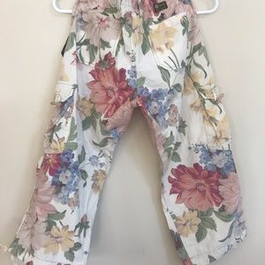 lucky Brand cropped floral pants